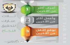 ثلاث عبارات لتحقيق النجاح